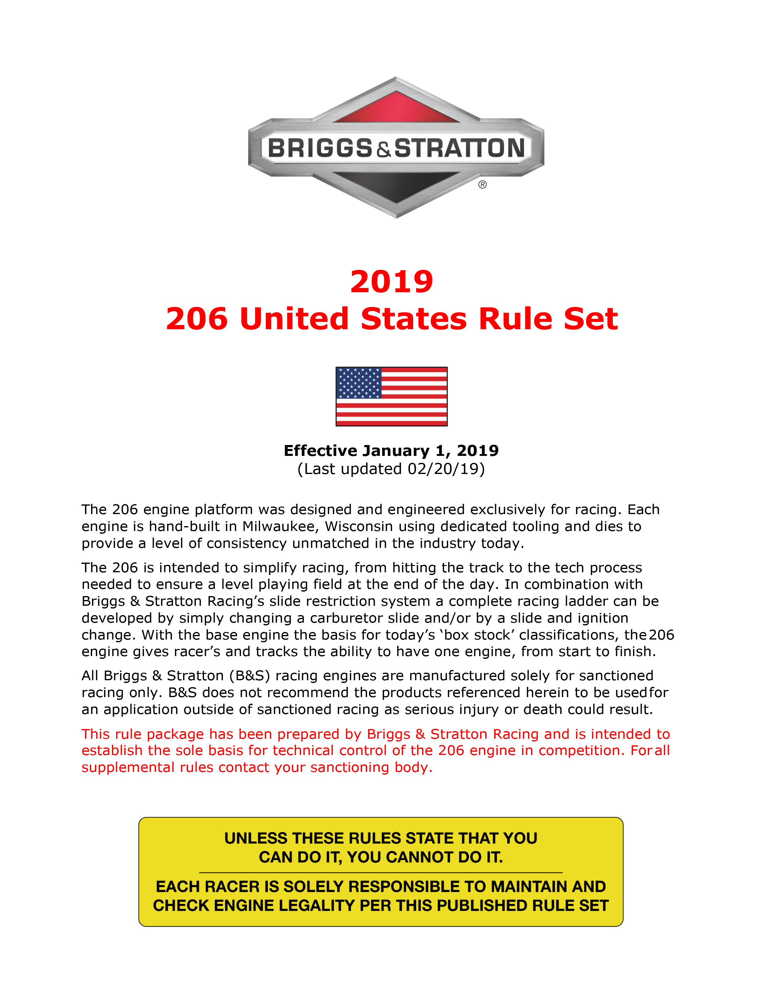 2019 206 United States Rule Set